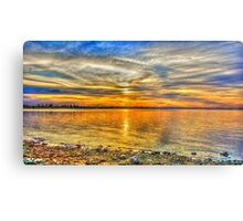 The Surreal Sunset at Lake Eppalock Metal Print