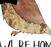 Owl Be Home for Christmas - Punny Christmas Sticker
