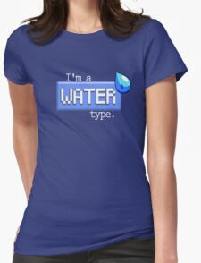Water Type - PKMN Womens Fitted T-Shirt