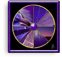 Purple Colour Wheel Canvas Print