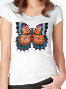 """""""Beauty of Butterfly"""" Women's Fitted Scoop T-Shirt"""