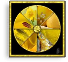 Yellow Colour Wheel Canvas Print