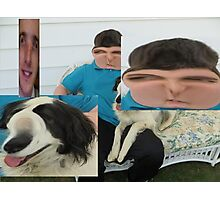 my friend jake and dog and joey Photographic Print