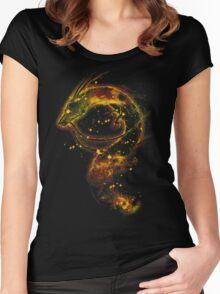 haku nebula -orange version Women's Fitted Scoop T-Shirt