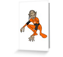 Orange Lantern Gollum Greeting Card