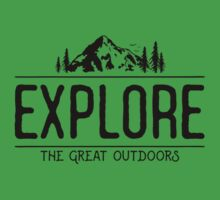 Explore the Great Outdoors One Piece - Short Sleeve