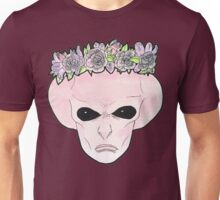 Pink Flower Crown Alien Unisex T-Shirt