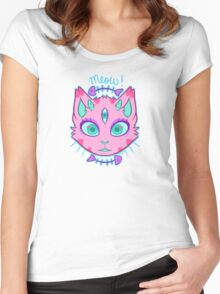 Triclops Kitty  Women's Fitted Scoop T-Shirt