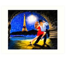 One Last Tango In Paris - Romance Under The Stars Art Print