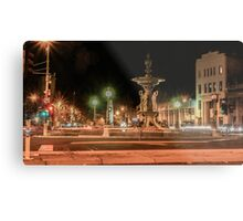 Light Trails at the Alexandra Fountain and View Point, Bendigo Metal Print