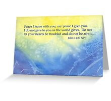 Ocean Waves and True Peace - John 14:27 Greeting Card