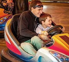 Family dynamic at the dodgems by nadine henley