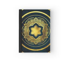 BLUE AND GOLD MANDALA Hardcover Journal