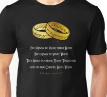 Lord of The Wedding Rings Unisex T-Shirt