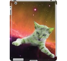 Tilted Cat in Space iPad Case/Skin