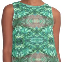 Tropical Leaves Contrast Tank