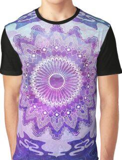 Blue Mandala Graphic T-Shirt