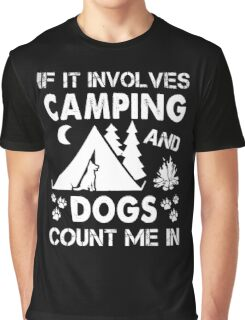 I Love Camping And Dogs Graphic T-Shirt