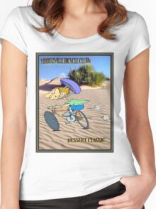 BICYCLE RACING; Yibbitzville Dessert Classic Print Women's Fitted Scoop T-Shirt