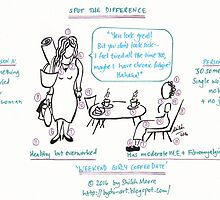 Life with ME: Spot the Difference - 'Weekend Girly Coffee Date' PART A - Image by Shiloh Moore