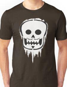 Mustache-Skull Graphite no outline Unisex T-Shirt