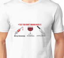 TGIT - Scandal - Greys Anatomy - How To Get Away With Murder Unisex T-Shirt