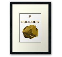 A Pixel Boulder Framed Print