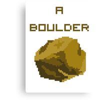 A Pixel Boulder Canvas Print