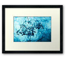 Blue Ink Framed Print