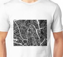 Ghent Map - Black Unisex T-Shirt