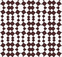 Brown & White Geometric Abstract Design Pattern by Mercury McCutcheon
