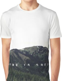 Home Is Green Graphic T-Shirt