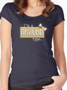 Ground Type - PKMN Women's Fitted Scoop T-Shirt