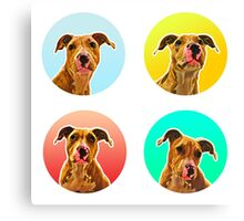 Four Doggo (Staffordshire Puppies) Canvas Print