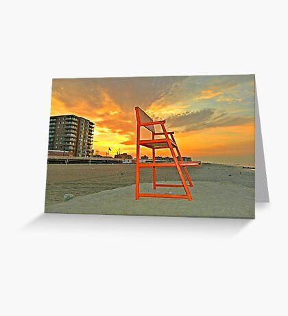 LONG BEACH, NY SUMMER SUNRISE Greeting Card
