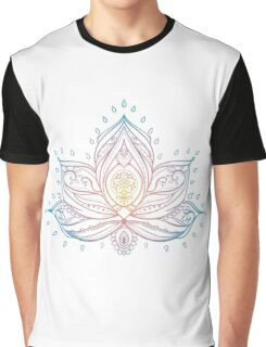 Lotus Mandala Illustration Graphic T-Shirt