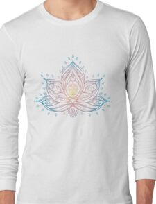 Lotus Mandala Illustration Long Sleeve T-Shirt