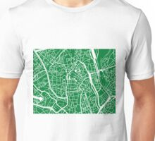 Ghent Map - Green Unisex T-Shirt