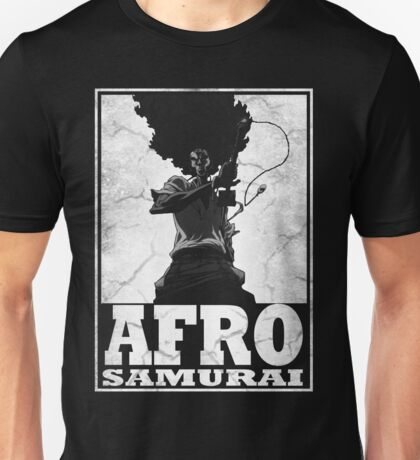 Afro Hair Samurai  Unisex T-Shirt