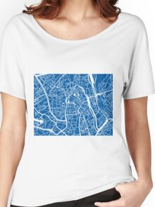 Ghent Map - Blue Women's Relaxed Fit T-Shirt