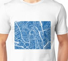 Ghent Map - Blue Unisex T-Shirt