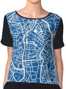 Ghent Map - Blue Chiffon Top