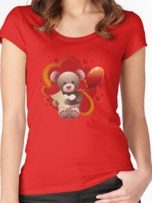 Teddy Bear with Heart 3 Women's Fitted Scoop T-Shirt