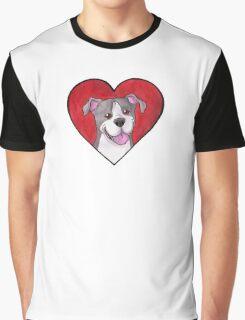 Pit Bull / Staffie Heart Graphic T-Shirt
