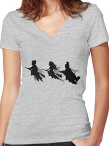 Think Sanderson Sisters Women's Fitted V-Neck T-Shirt