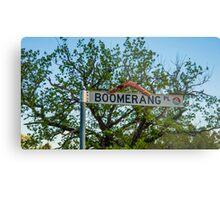 Boomerang Place Sign in Heathcote, Victoria Metal Print