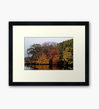 Autumn on the River Framed Print