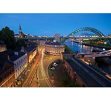 Sandhill, Newcastle upon Tyne at Dusk Photographic Print