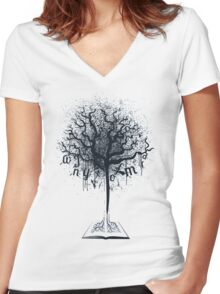 Book of Life Tree Women's Fitted V-Neck T-Shirt
