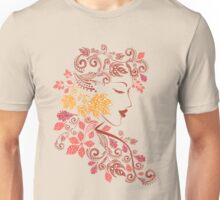 Autumn Girl with Floral 7 Unisex T-Shirt
